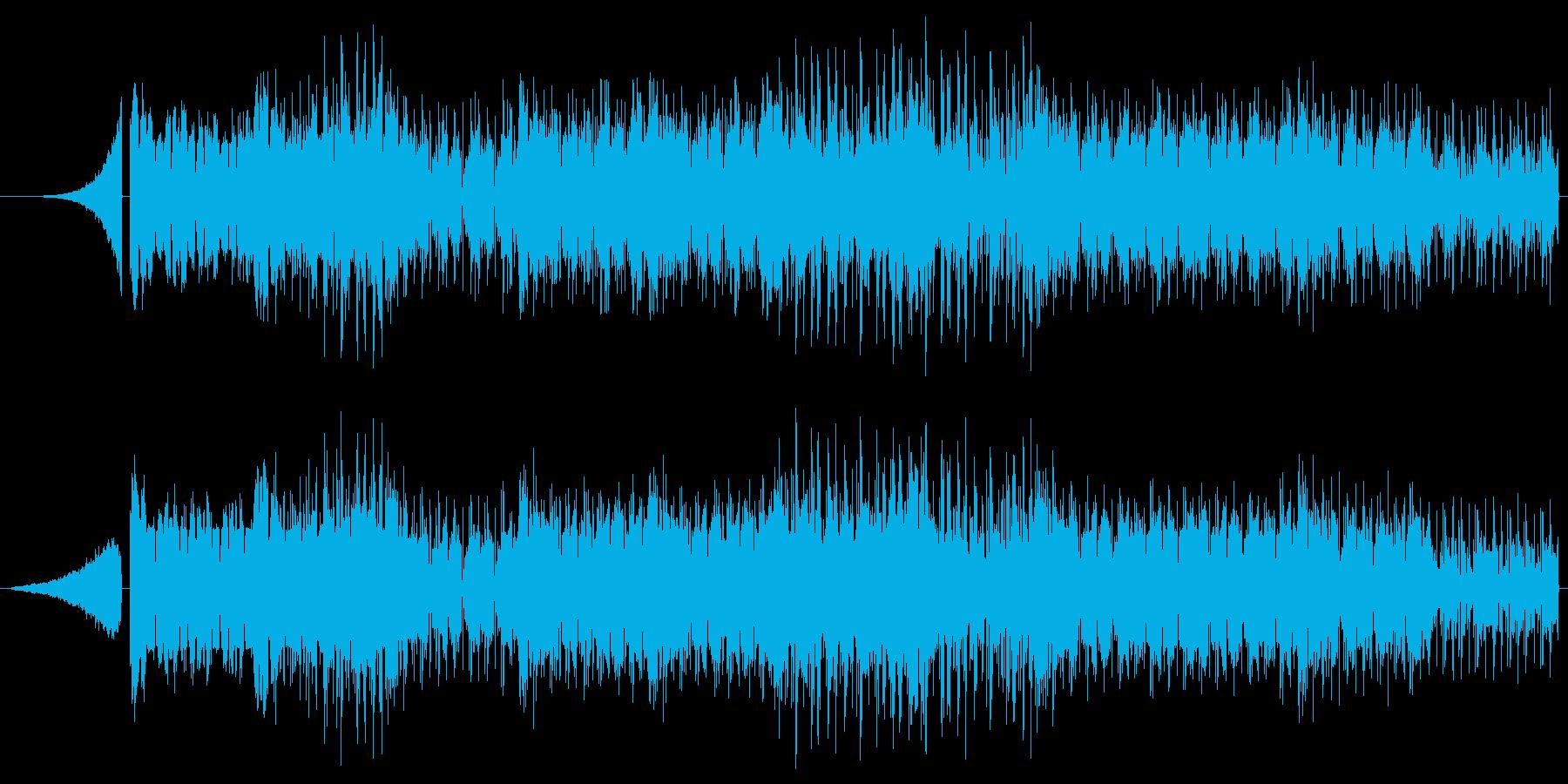 激しくかっこいいエレクトロBGMの再生済みの波形