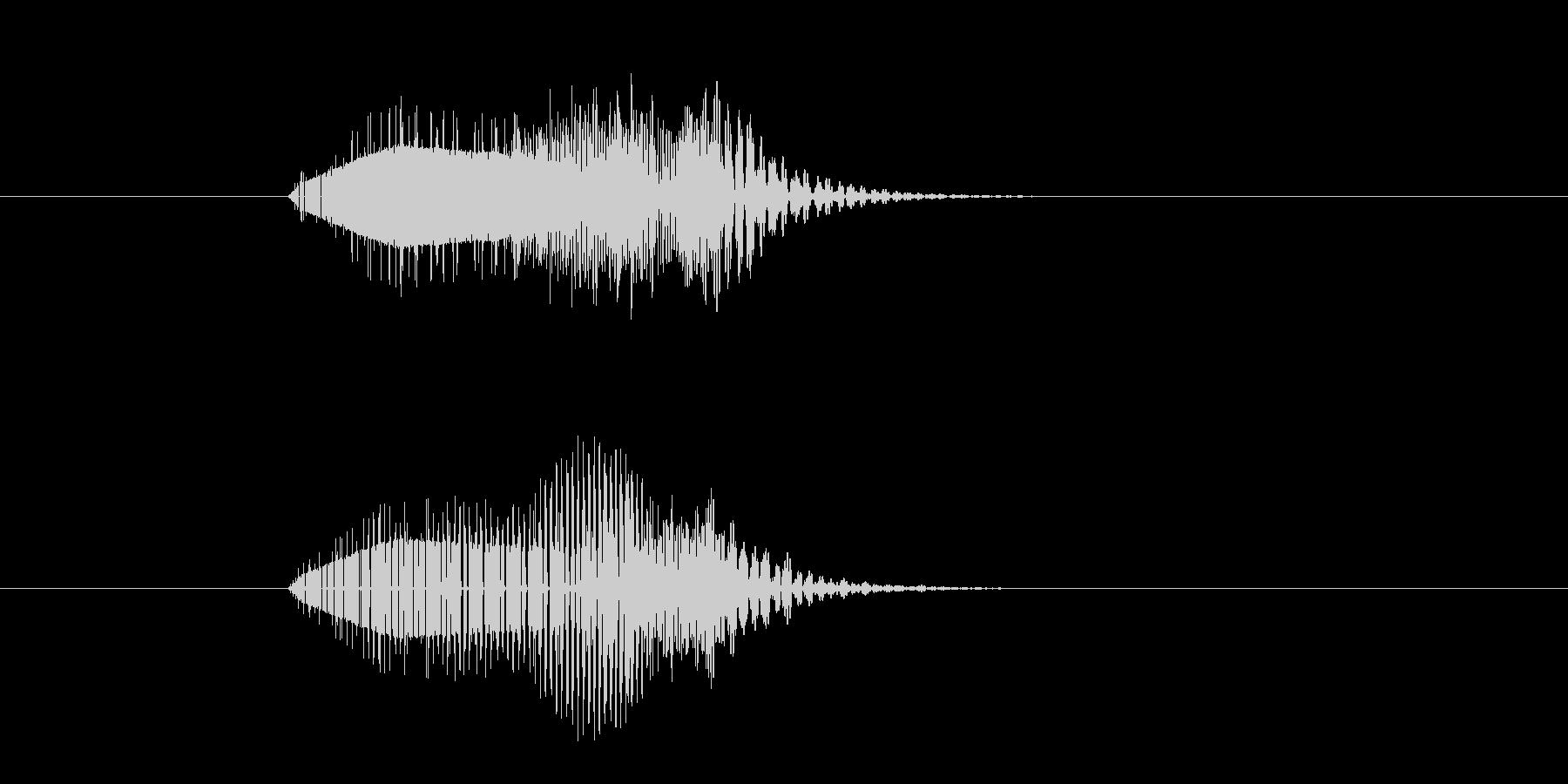 ポウィーン(注意を喚起する音)の未再生の波形