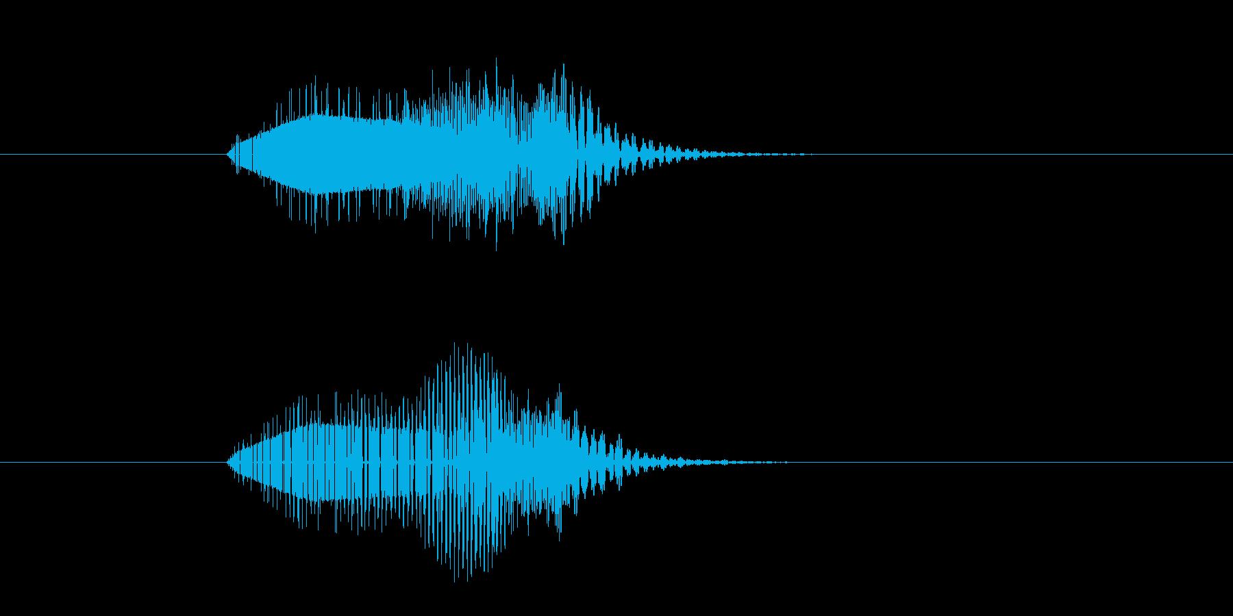 ポウィーン(注意を喚起する音)の再生済みの波形
