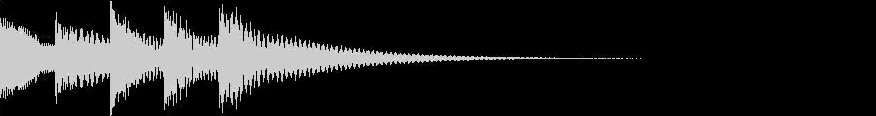 シンプルベル お知らせ ハテナ ? 19の未再生の波形