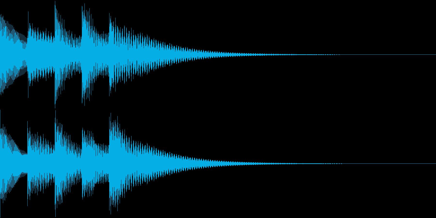 シンプルベル お知らせ ハテナ ? 19の再生済みの波形