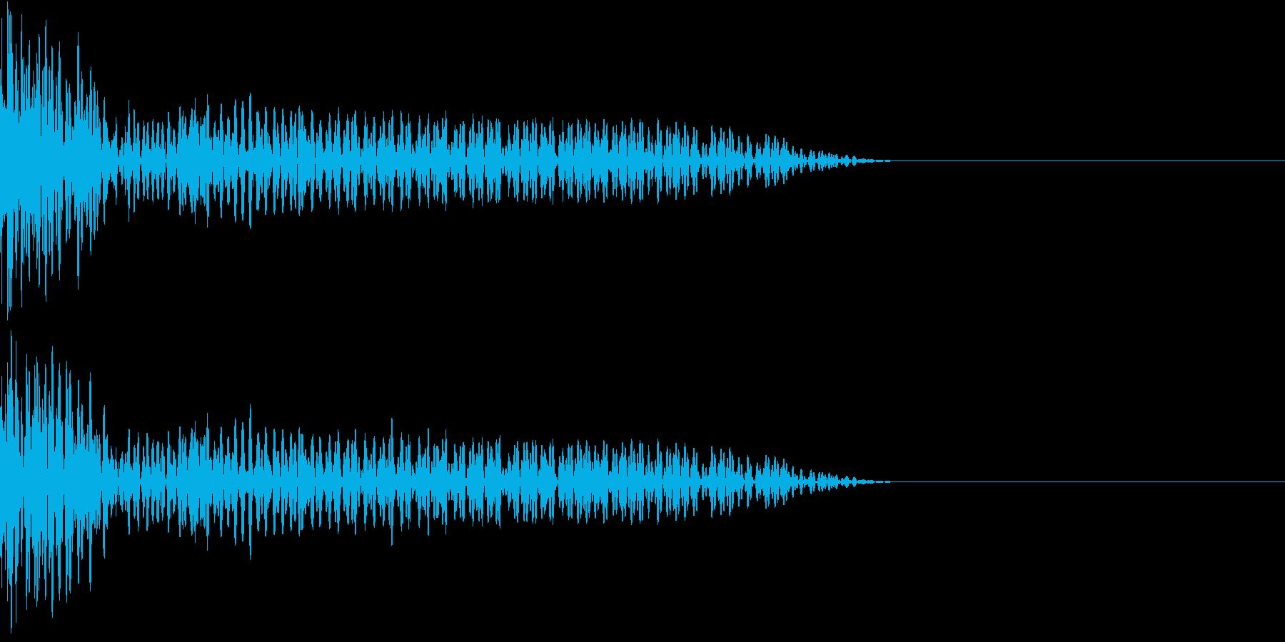 クリエイター様向け!EDMバスドラム2Aの再生済みの波形