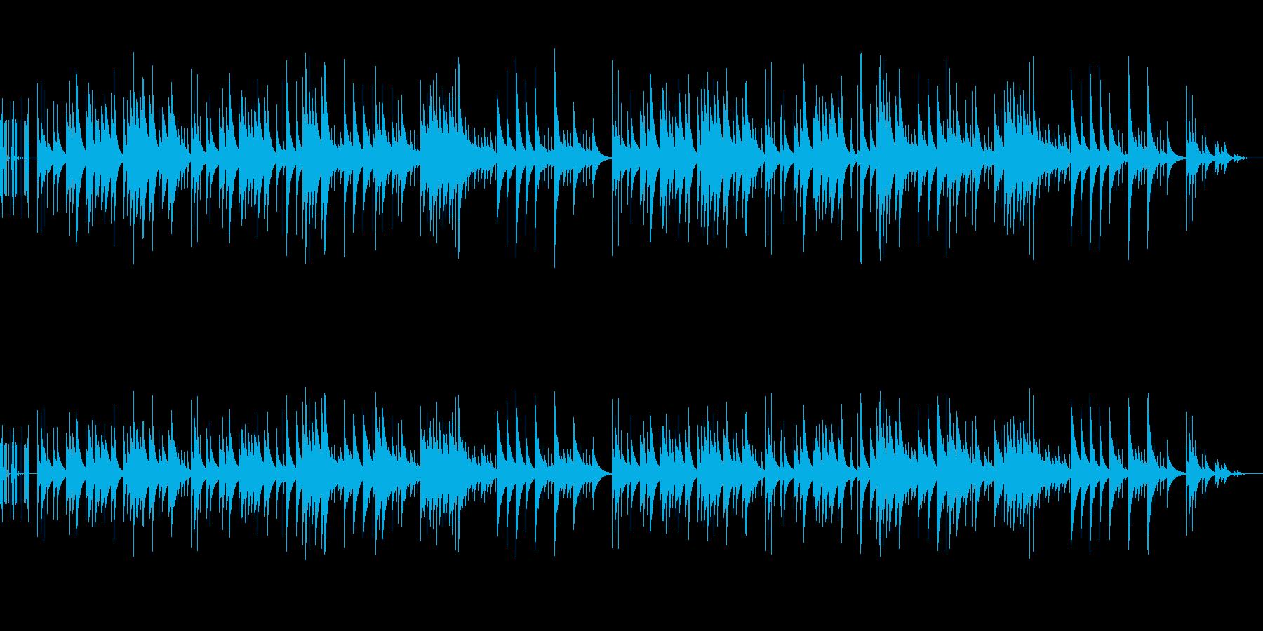 穏やかで少し切ないオルゴール楽曲の再生済みの波形