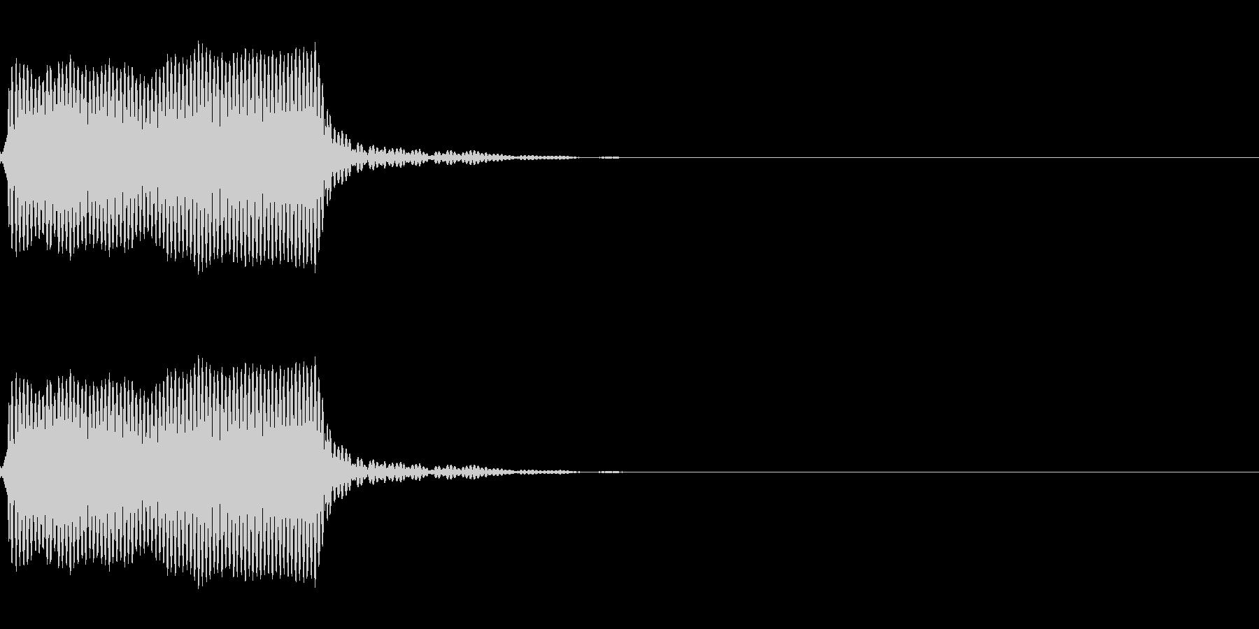 ホイッスル音01(ピーッ)の未再生の波形