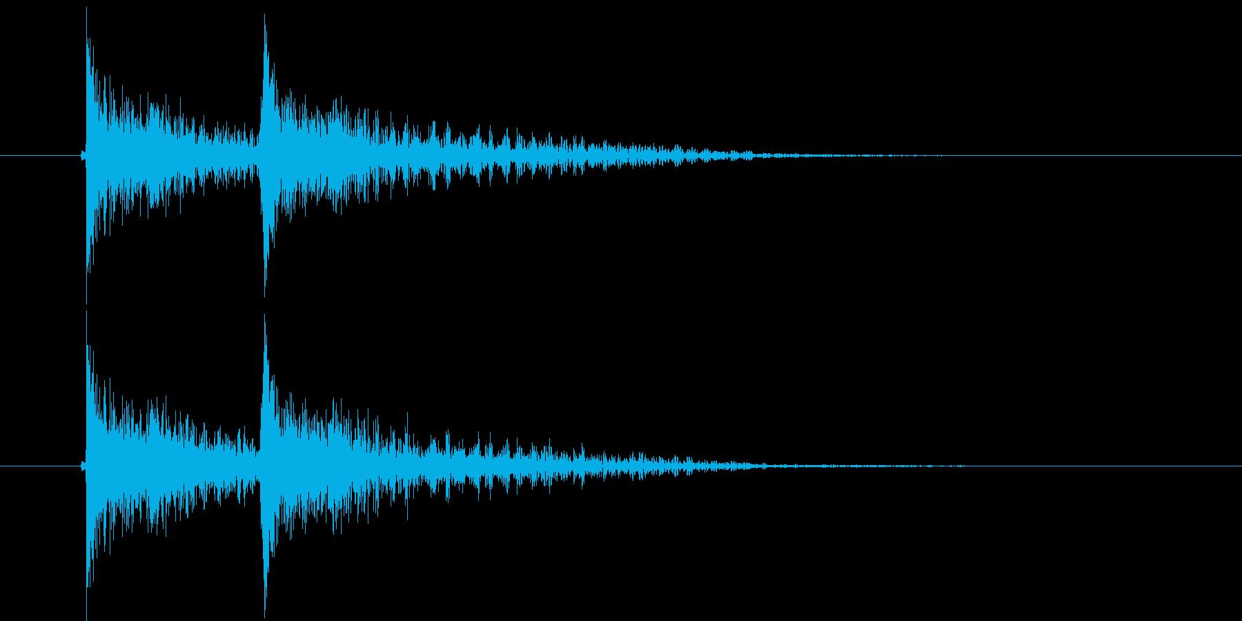 ジャンジャン(決定音、アクシデント)の再生済みの波形