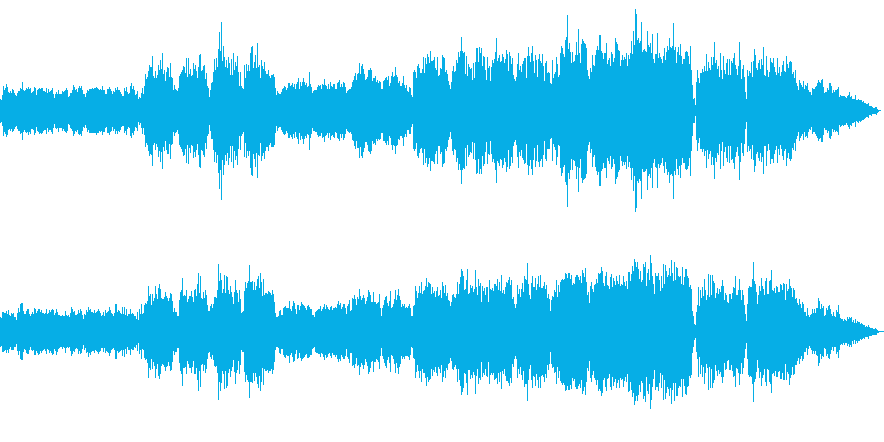 コーラスとパイプオルガンが印象的な曲の再生済みの波形