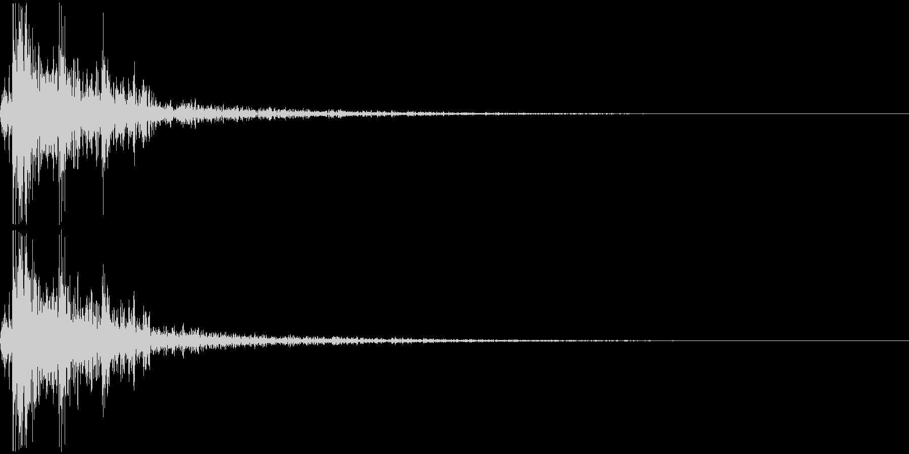 デン(ドロップした時_03)の未再生の波形