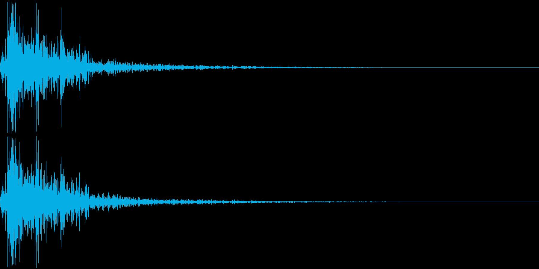 デン(ドロップした時_03)の再生済みの波形
