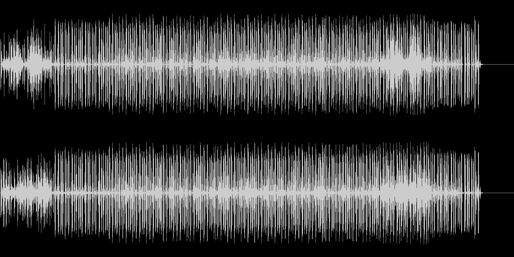 怪しく奇妙な雰囲気のエレクトロニカの未再生の波形