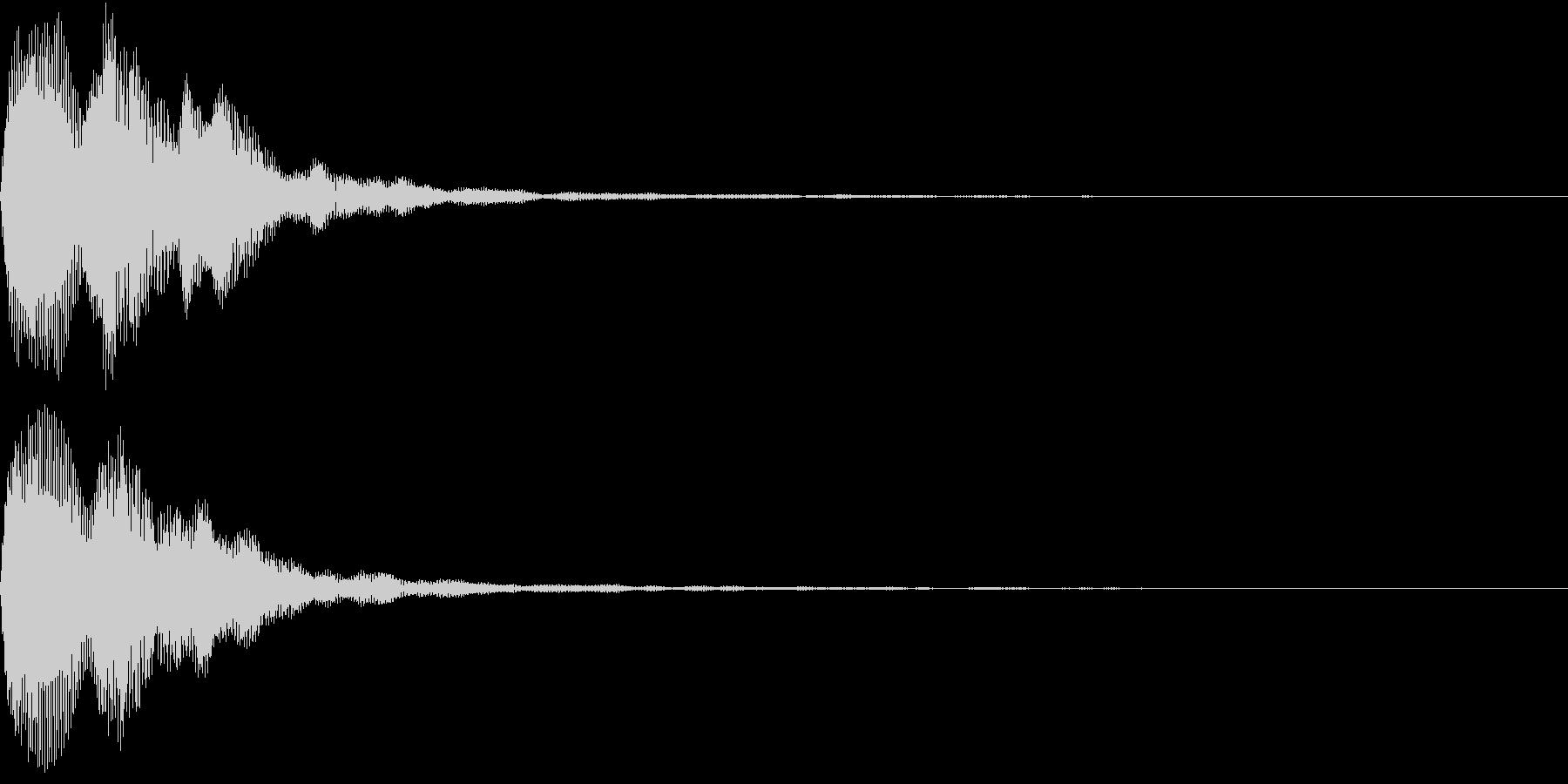 Digital PAY 決済音 決定音の未再生の波形