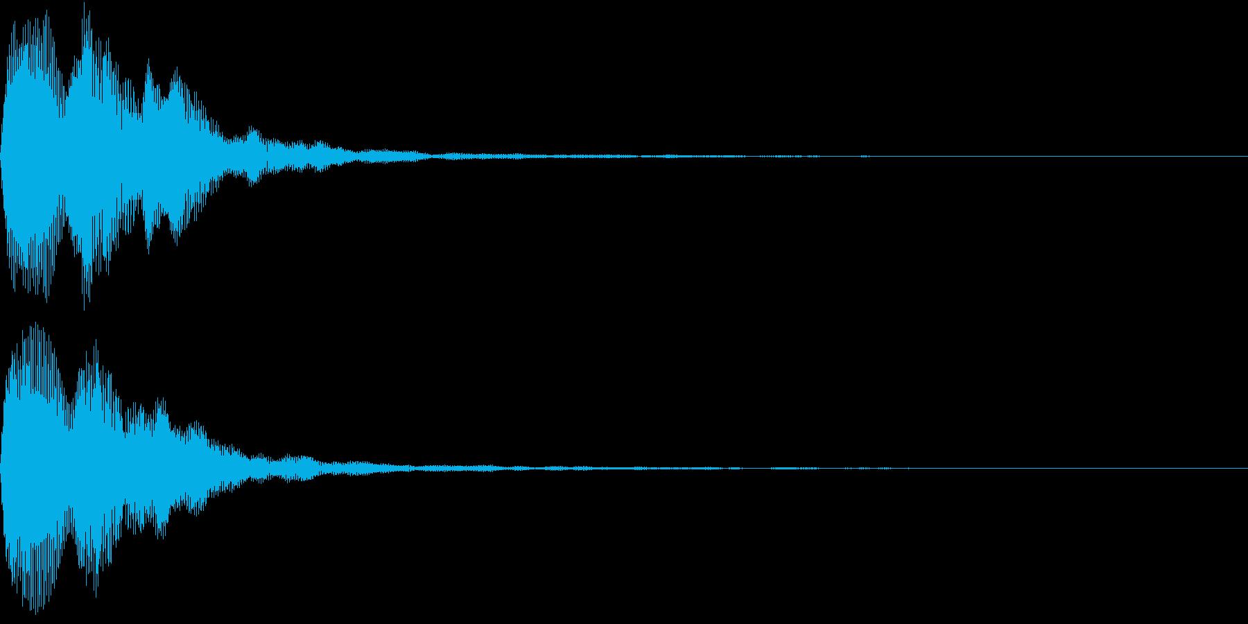 Digital PAY 決済音 決定音の再生済みの波形