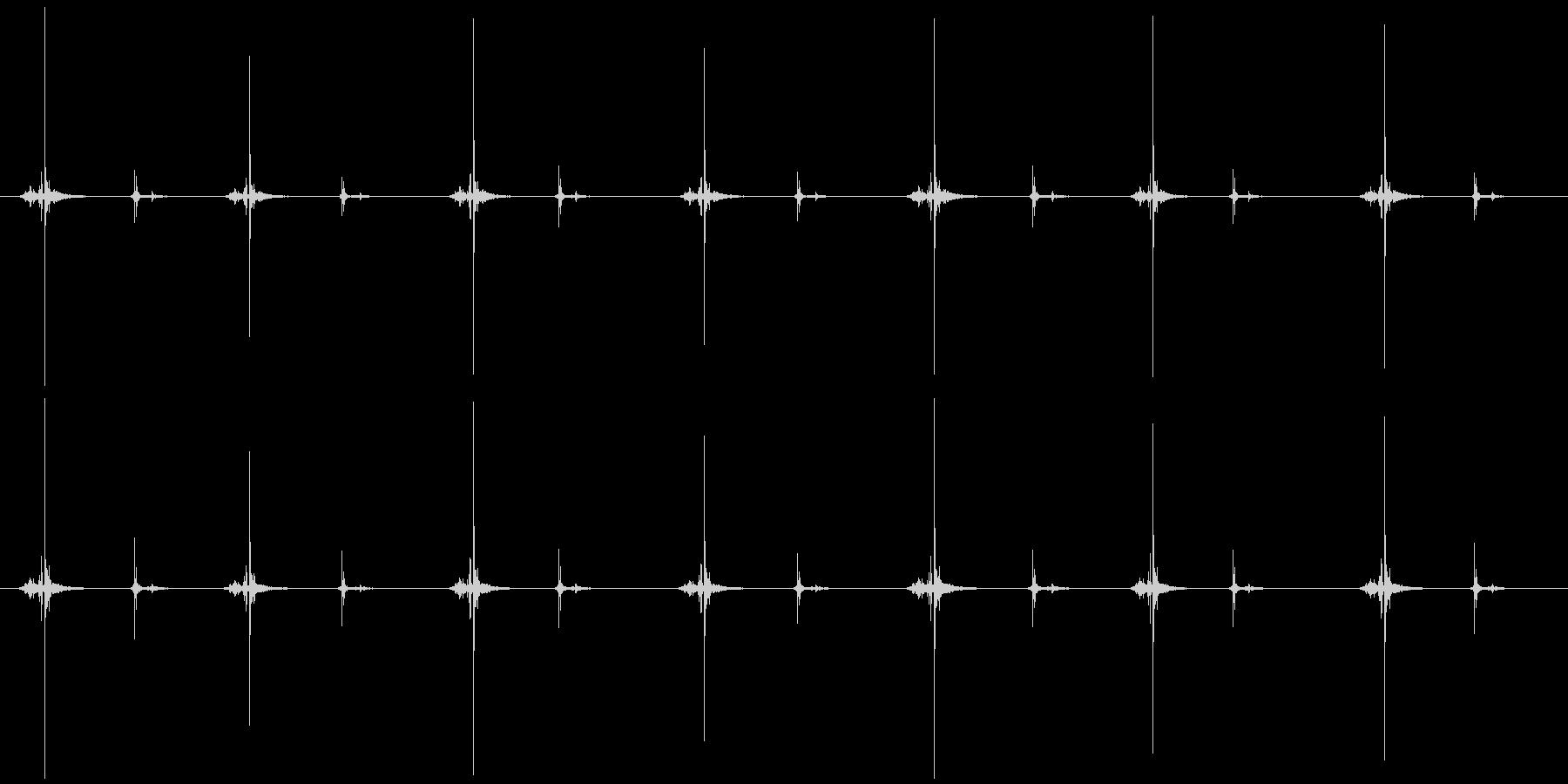 ハサミ 連続切り (チョキ×7 )の未再生の波形