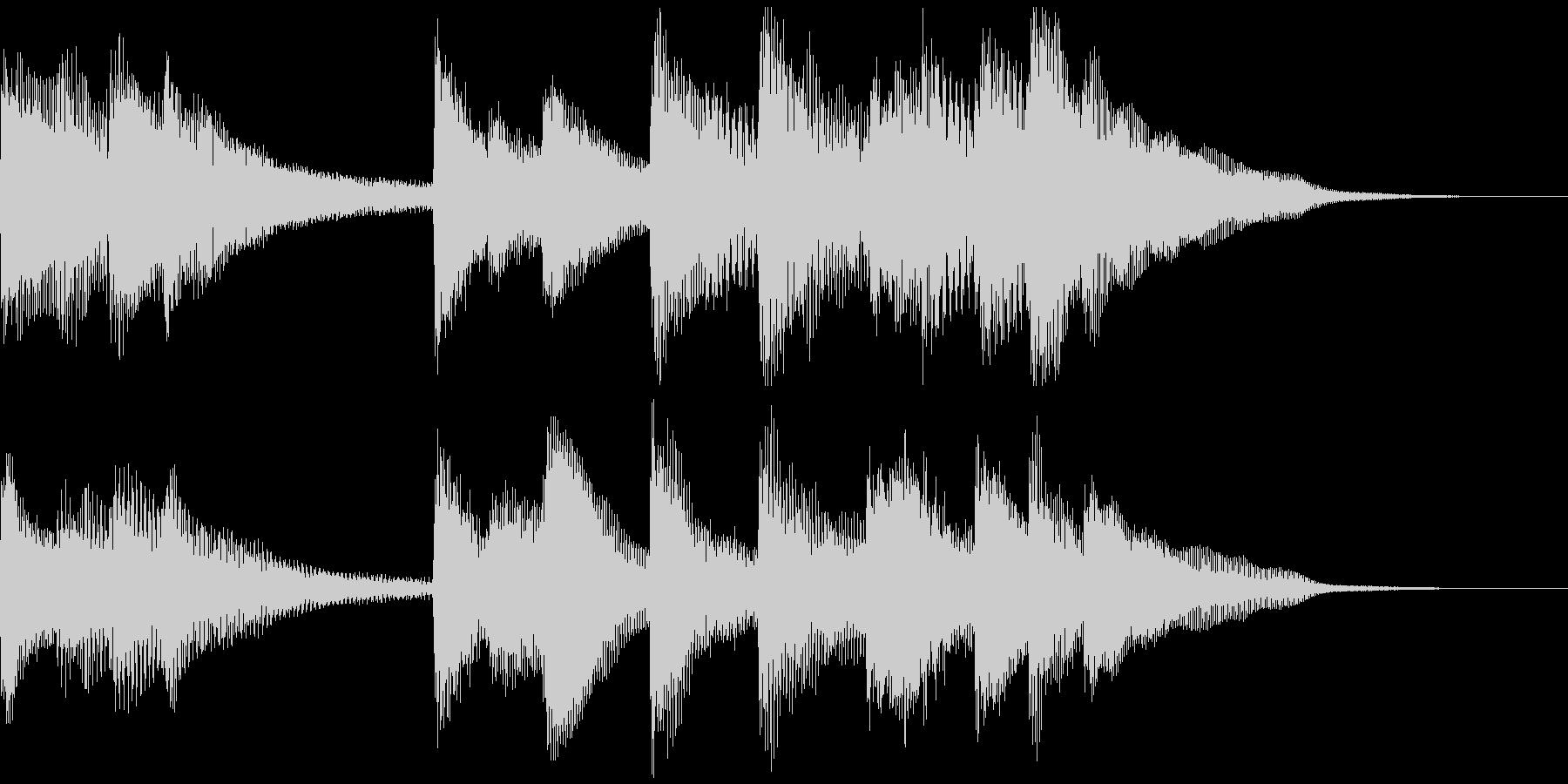 シンプルなピアノのジングルの未再生の波形