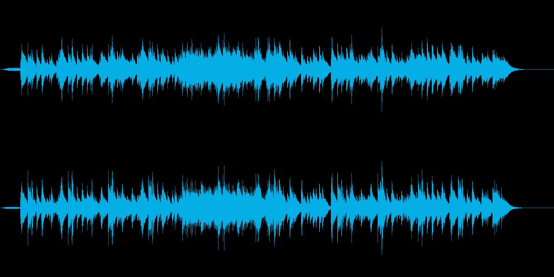 シンプルで繊細なアコースティックナンバーの再生済みの波形