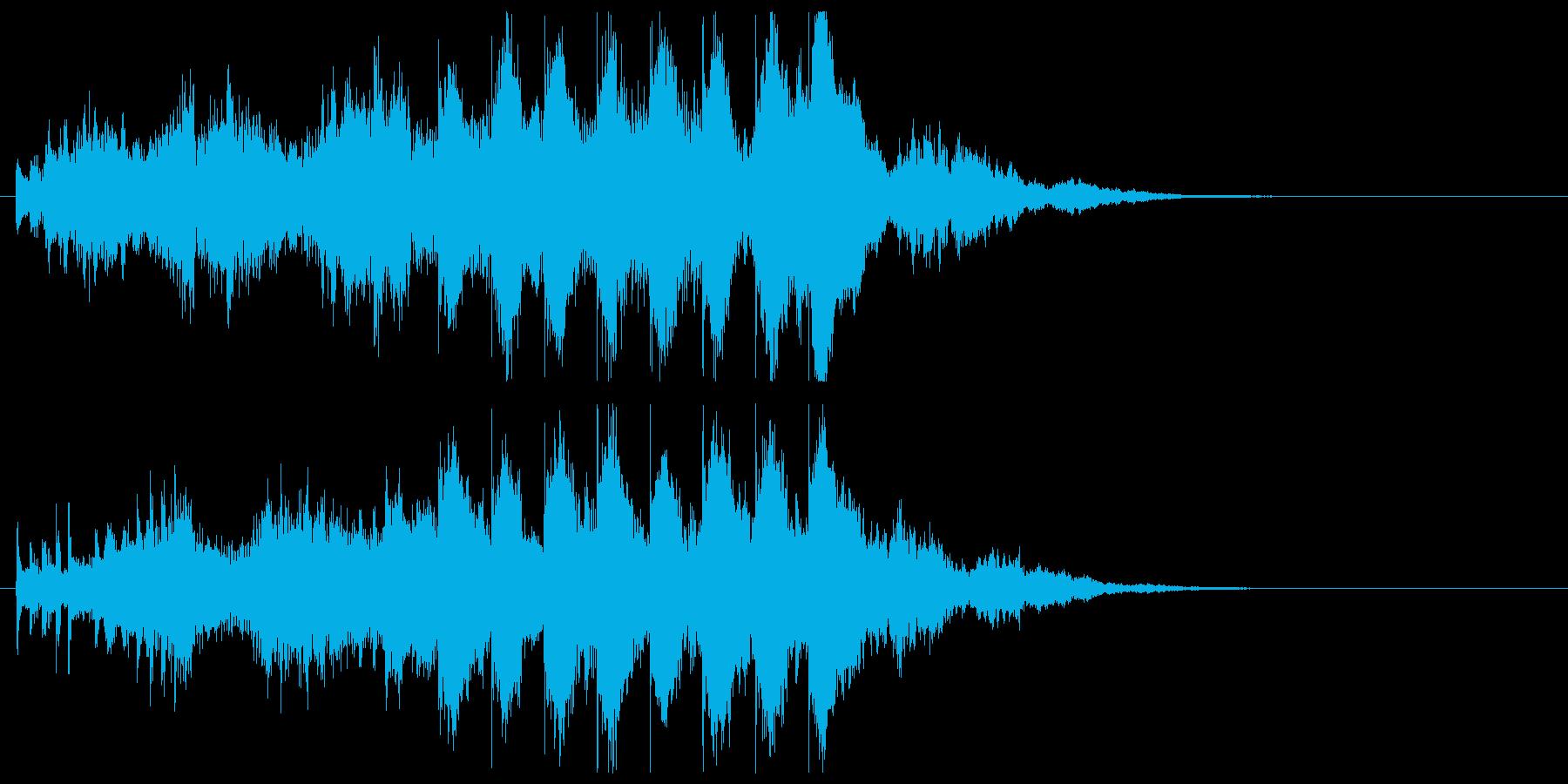 オープニングジングル 迫力あるわくわく感の再生済みの波形