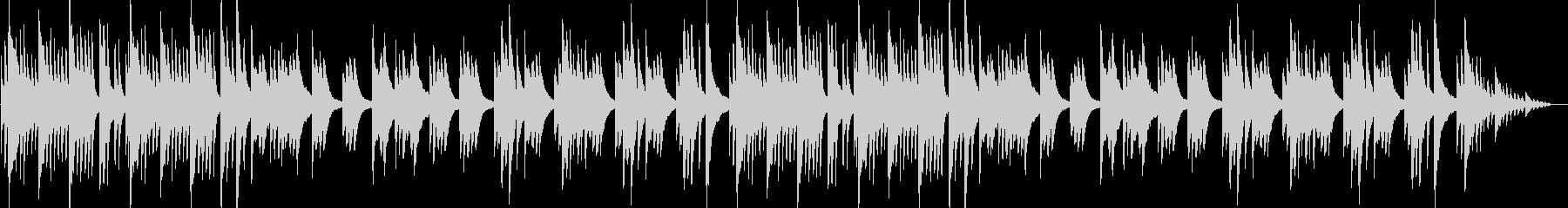 穏やかでやや切ないピアノナンバーの未再生の波形