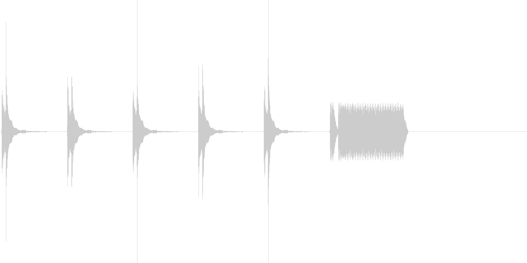 カウントダウン5秒&ホイッスルの未再生の波形