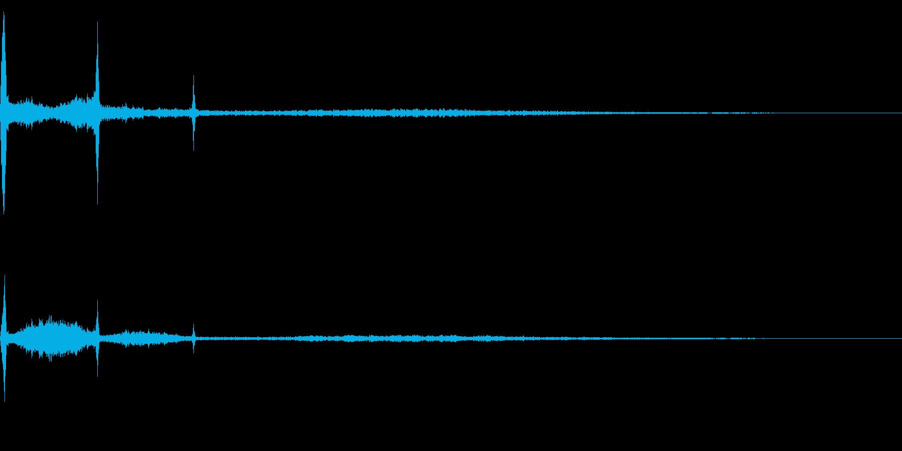 ホラー系アタック音21の再生済みの波形