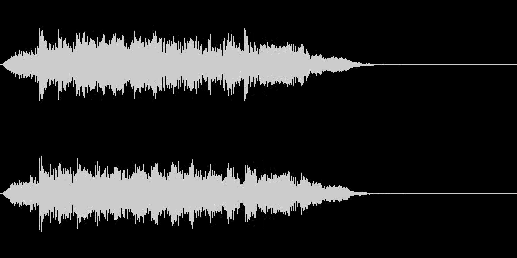 8秒のサウンドロゴの未再生の波形