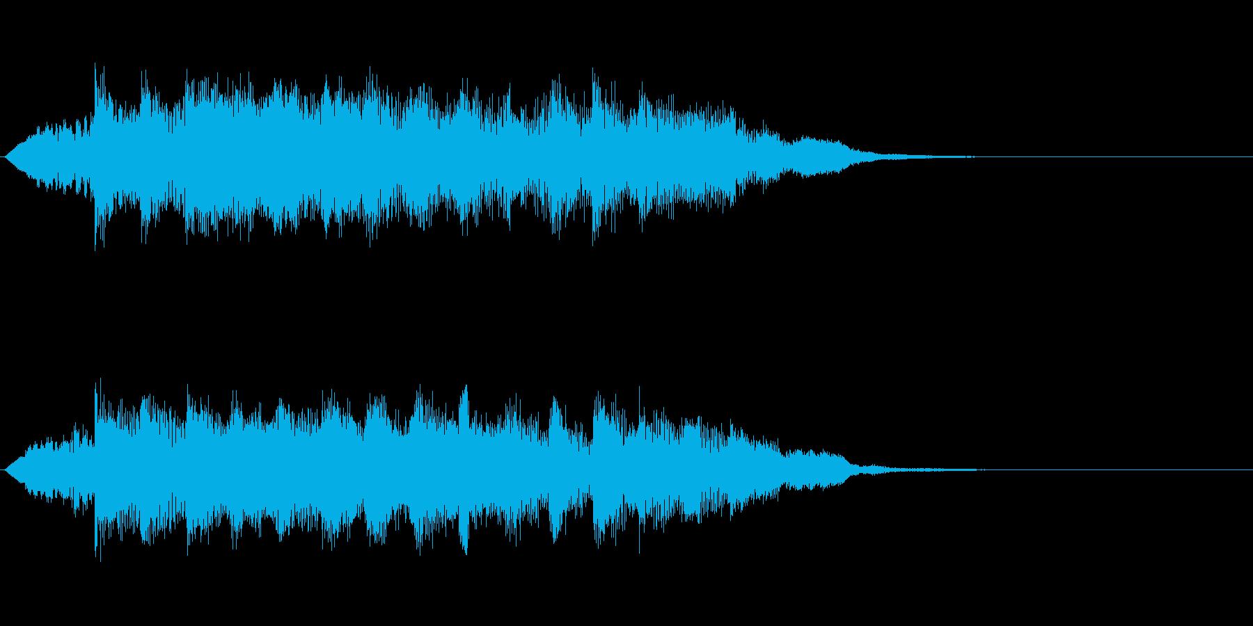 8秒のサウンドロゴの再生済みの波形