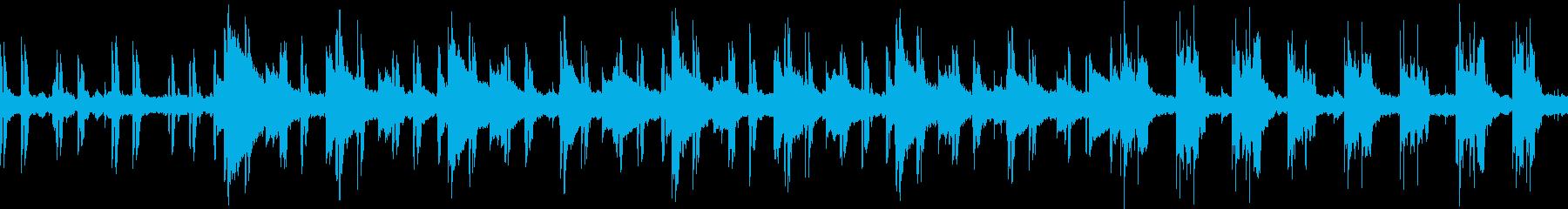 ベースとエレピの不思議な雰囲気のBGMの再生済みの波形