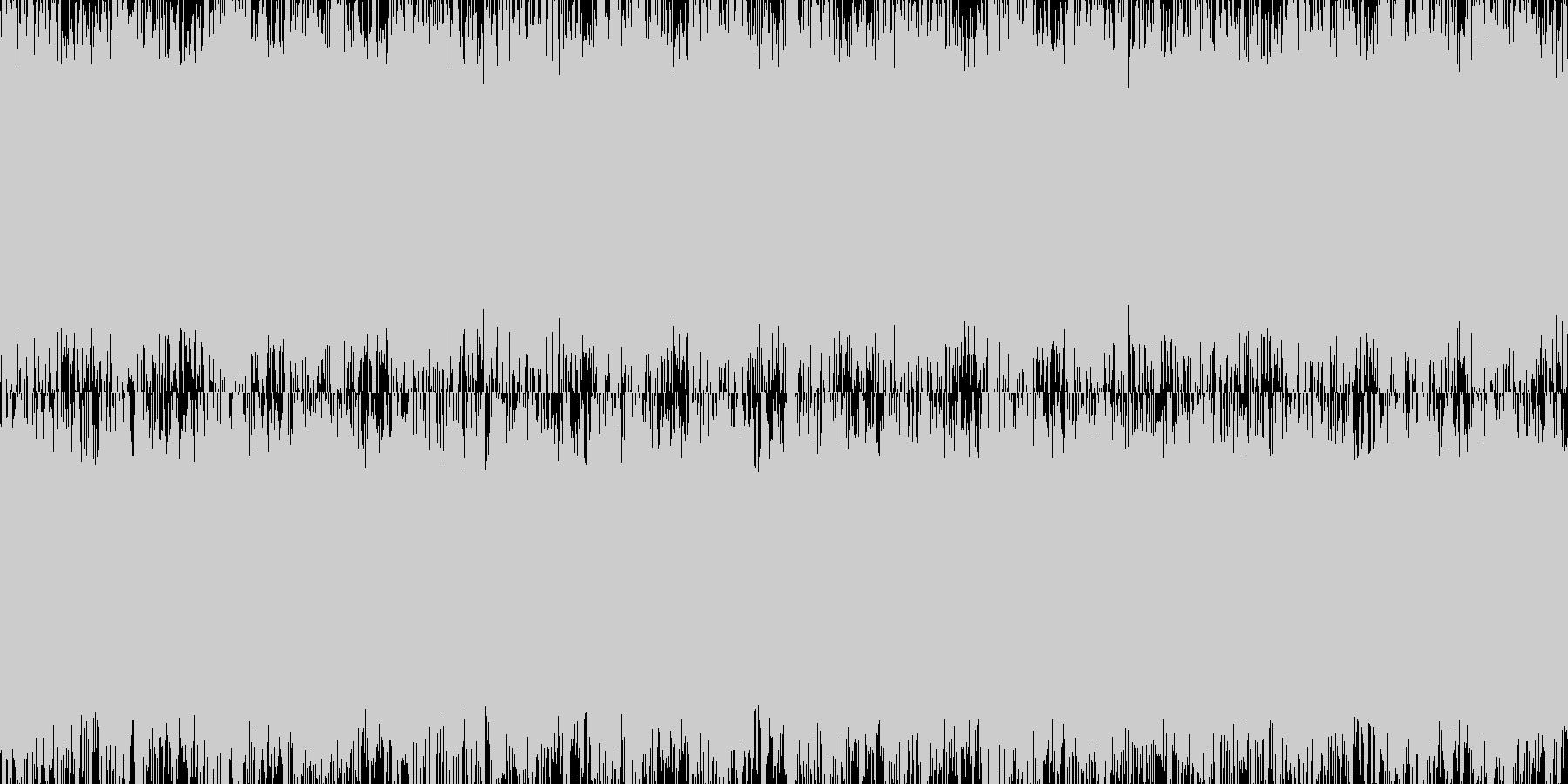 ギター ループ ロックの未再生の波形
