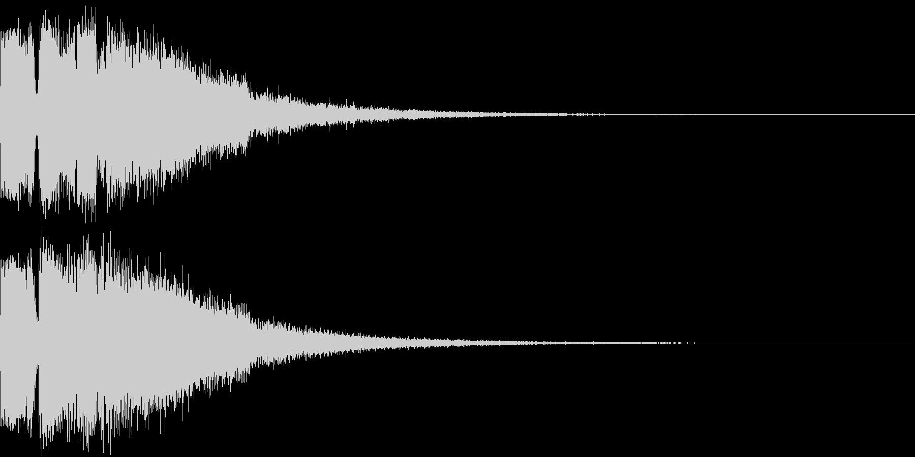 ピコピコ キューン ヒューン シューンAの未再生の波形