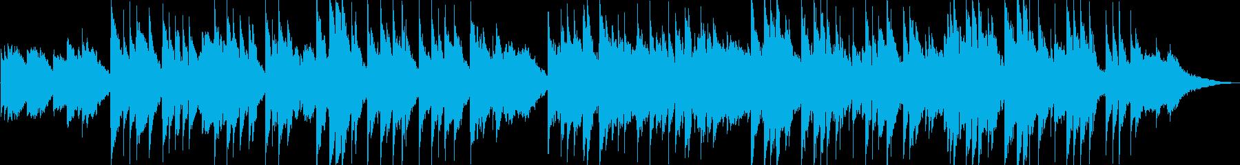 穏やかなリラクゼーションミュージックの再生済みの波形