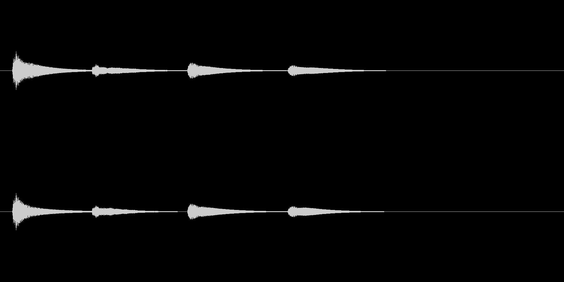 【SE 効果音】ティロティリロリン5の未再生の波形