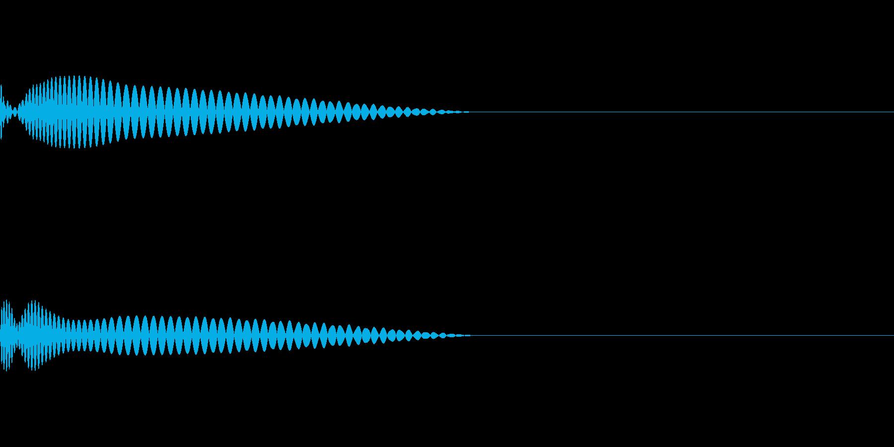 EDM向きのキック音源の再生済みの波形