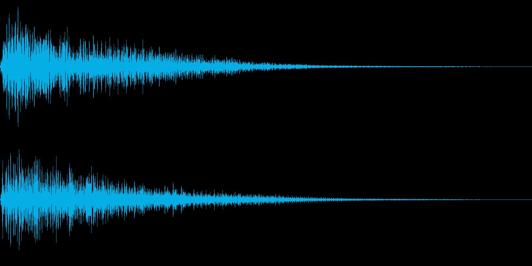 ホラー系アタック音80の再生済みの波形