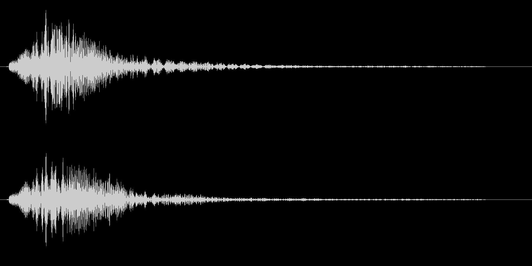 クリック音(チャラン)の未再生の波形