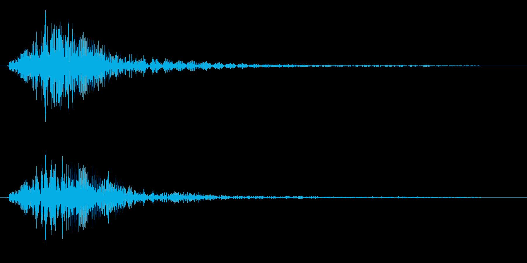 クリック音(チャラン)の再生済みの波形