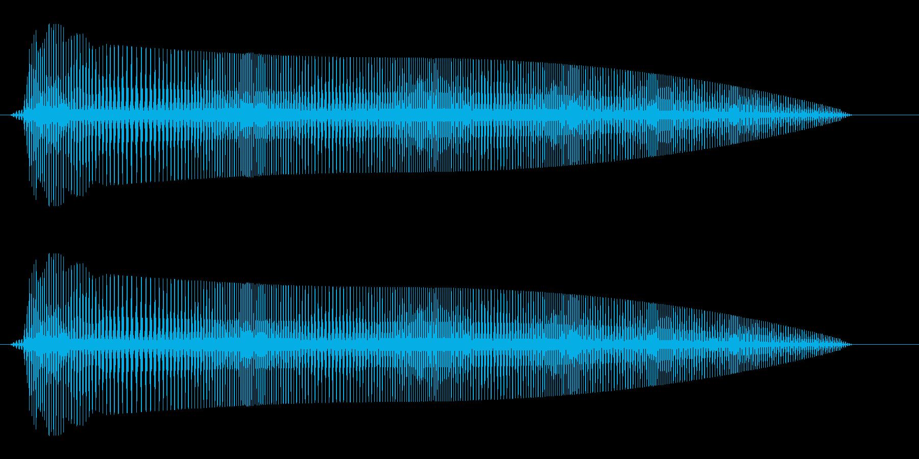 ブワワワワ〜ン(ゆるく気が抜ける振動音)の再生済みの波形