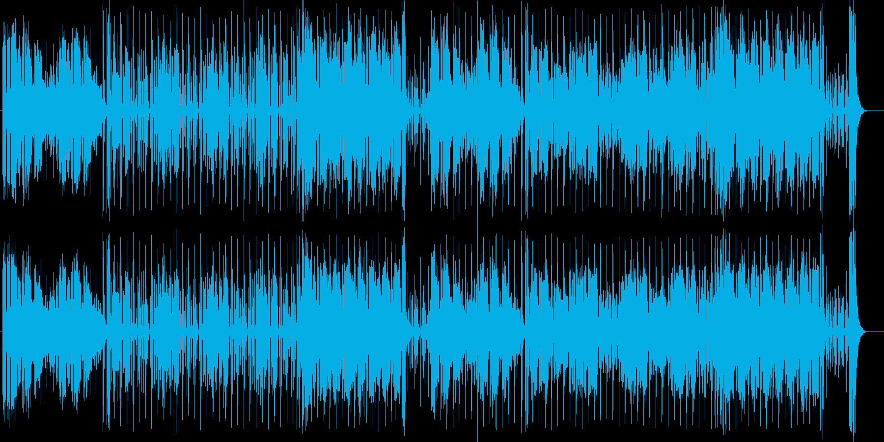 激しく勢いのあるポップミュージックの再生済みの波形