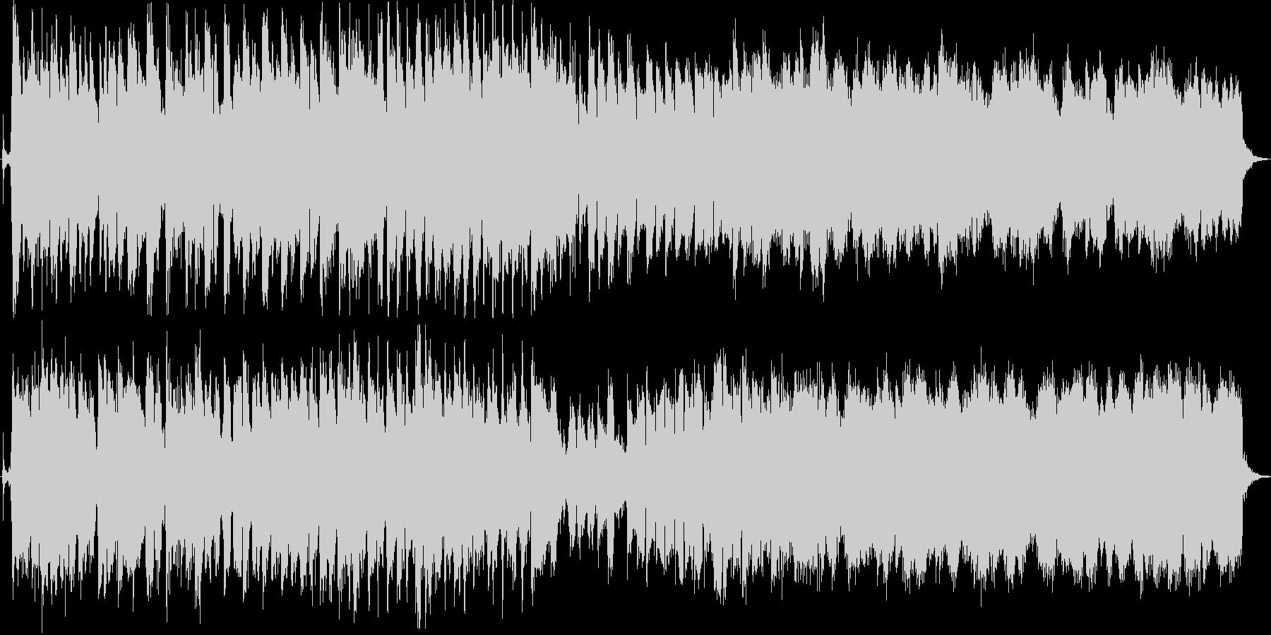 歯車が確かに回り始めたような曲の未再生の波形