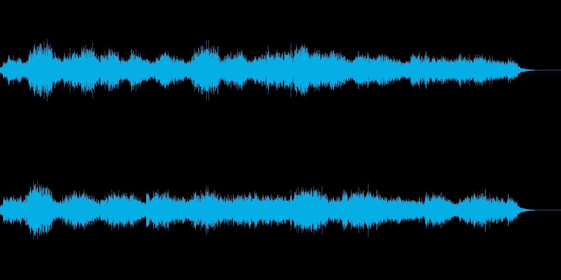 不気味な複数人の子どもの声の再生済みの波形