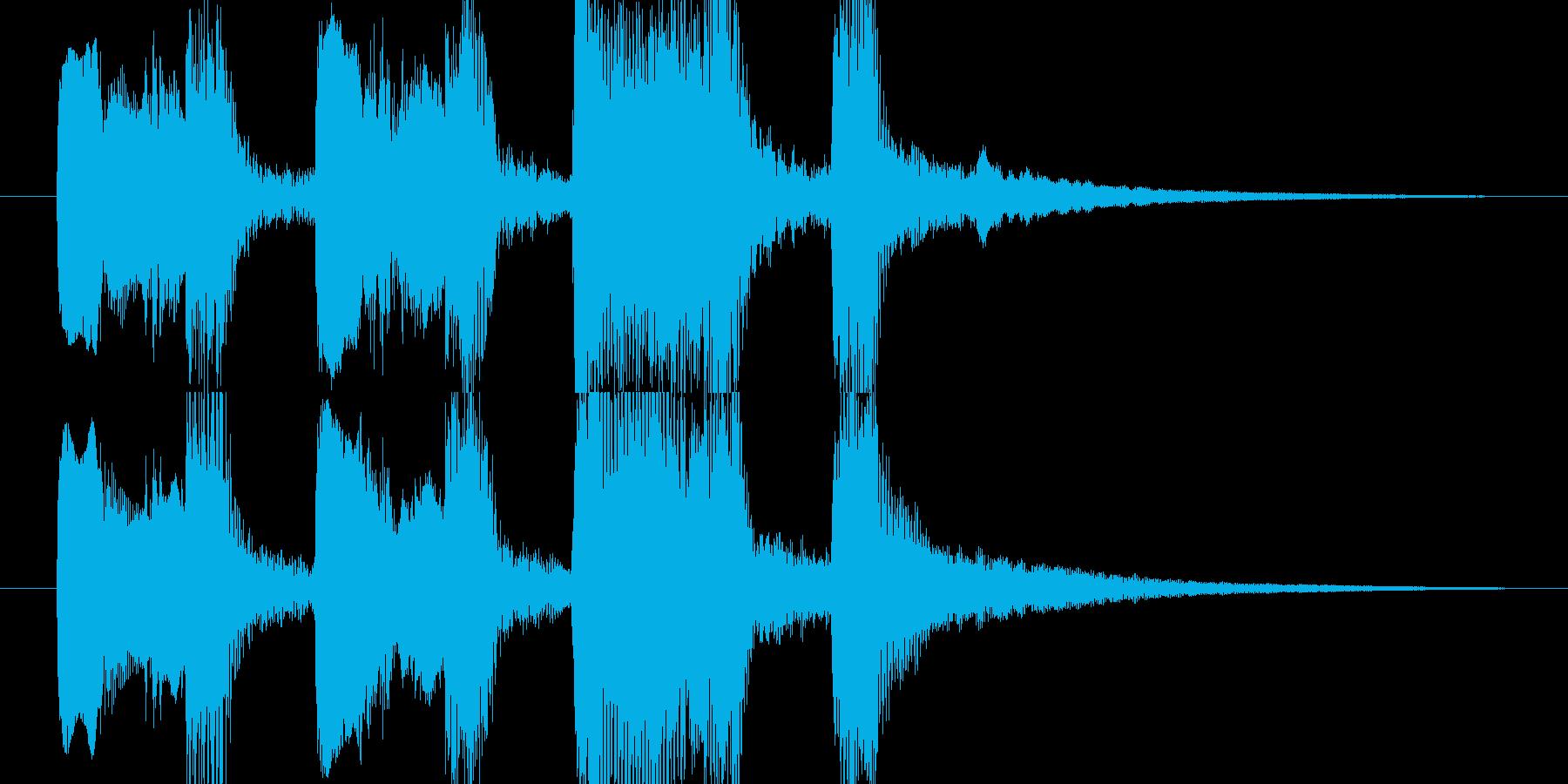 【ジングル】木管ほのぼのかわいい系の再生済みの波形