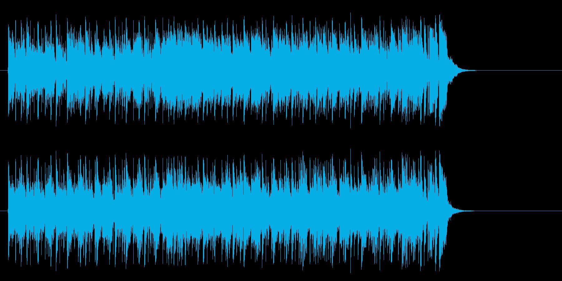 前向きなフュージョン(サビ~エンド)の再生済みの波形