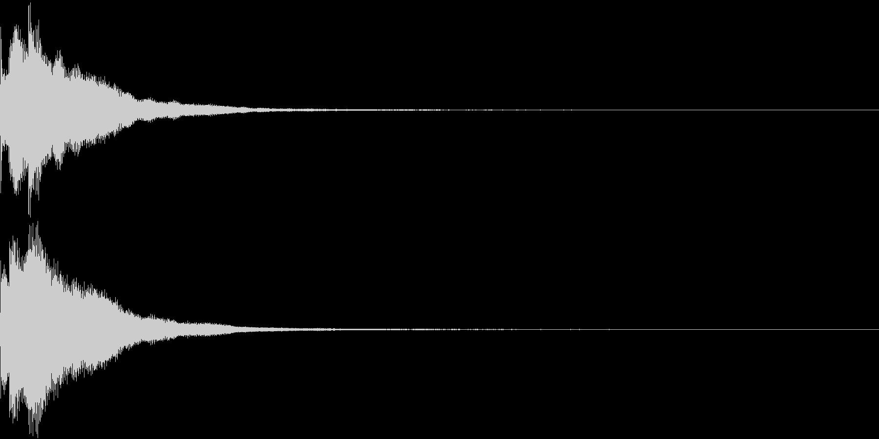 キラリン チャラリン クリック 37の未再生の波形