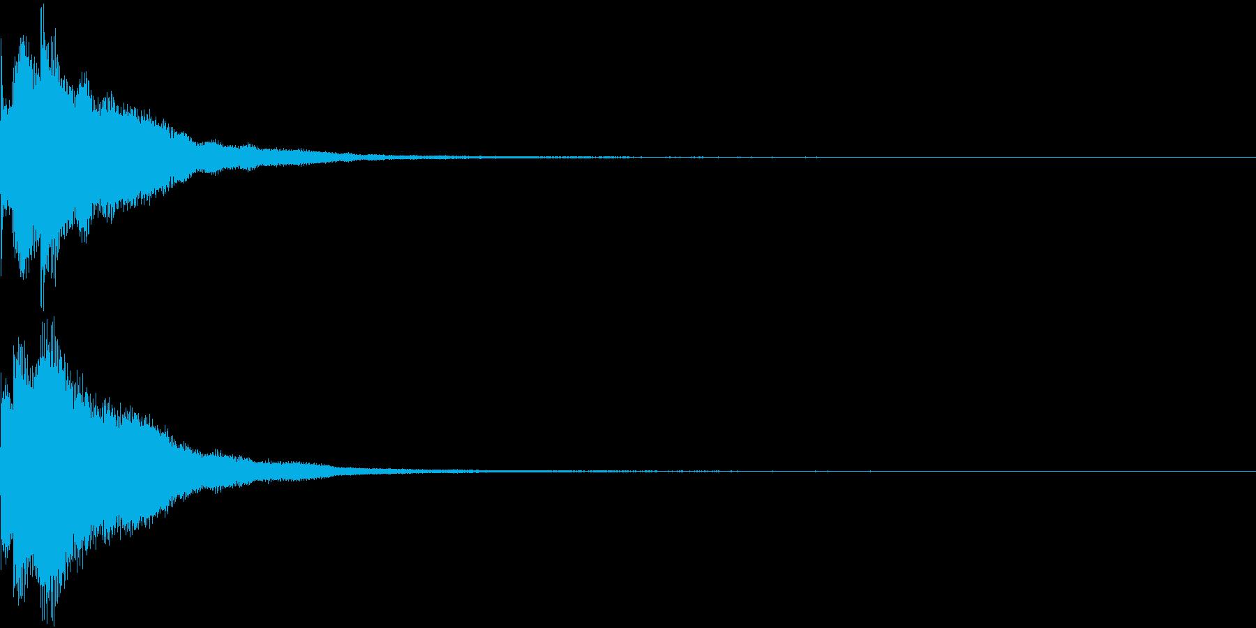 キラリン チャラリン クリック 37の再生済みの波形