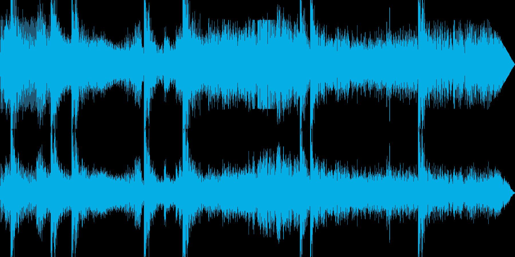 戦車同士の戦い(走りながら何度も撃つ)の再生済みの波形