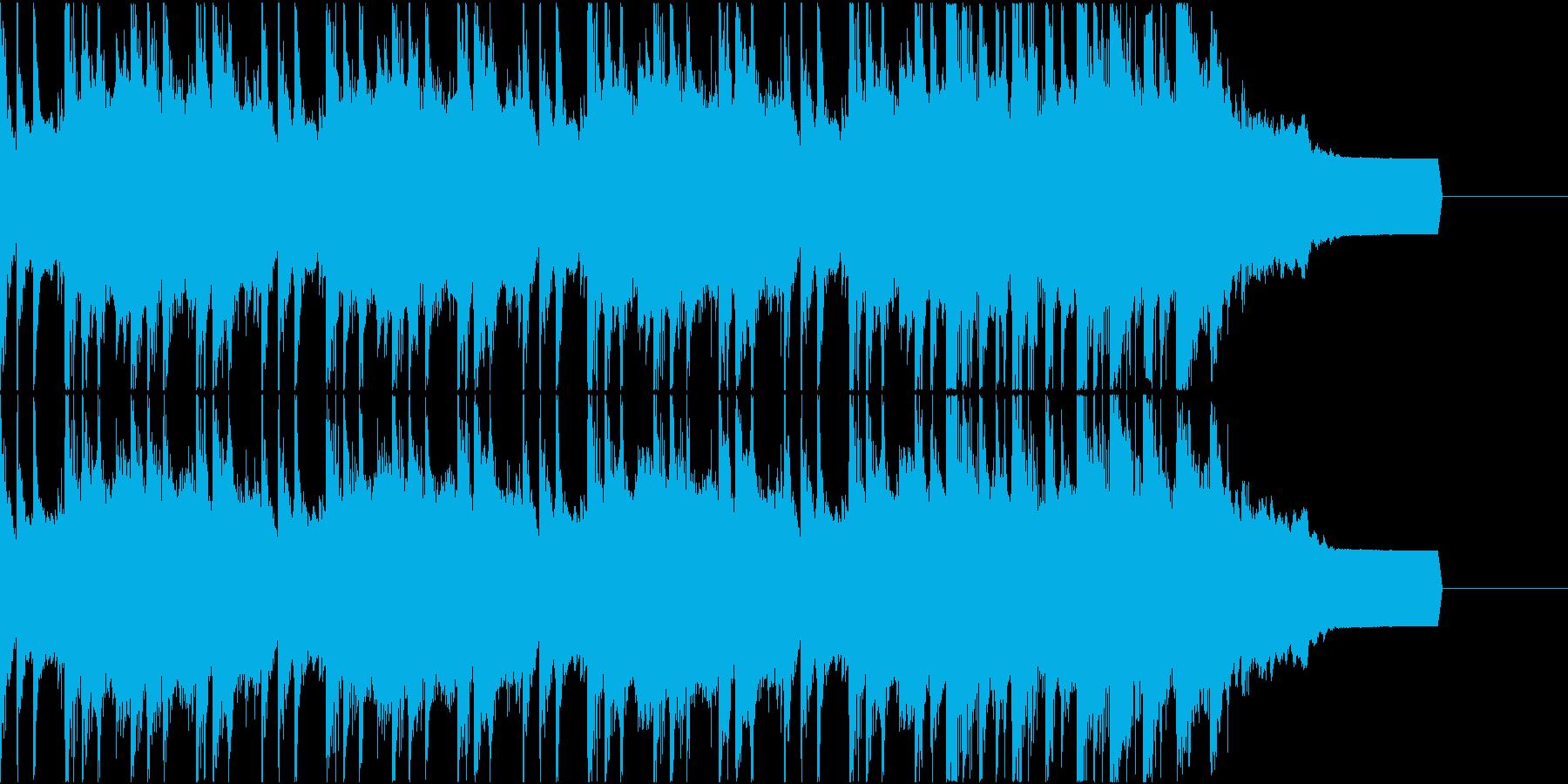 ミディアムテンポの展開感のあるジングルの再生済みの波形