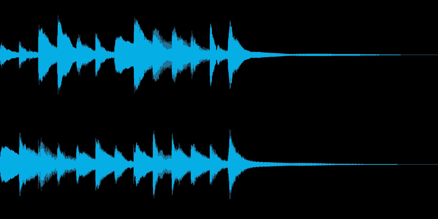 ピアノを使ったシンプルなサウンドロゴの再生済みの波形