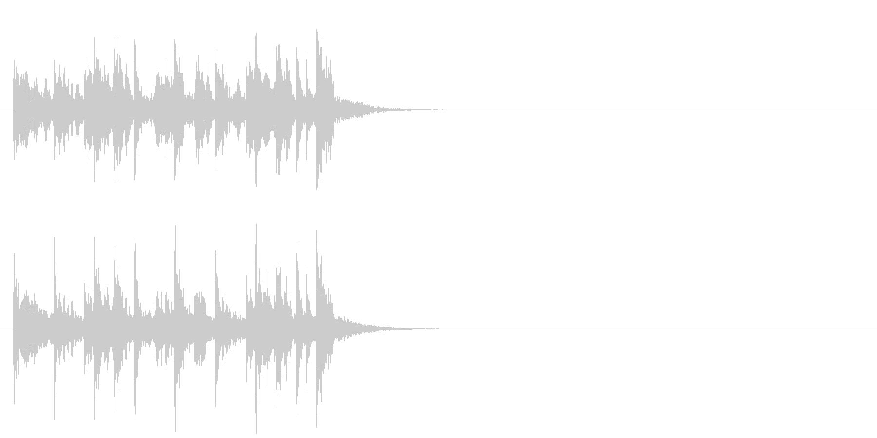 ジングル(ほのぼの情報コーナー風)の未再生の波形