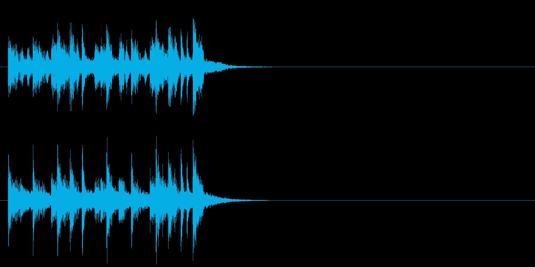 ジングル(ほのぼの情報コーナー風)の再生済みの波形
