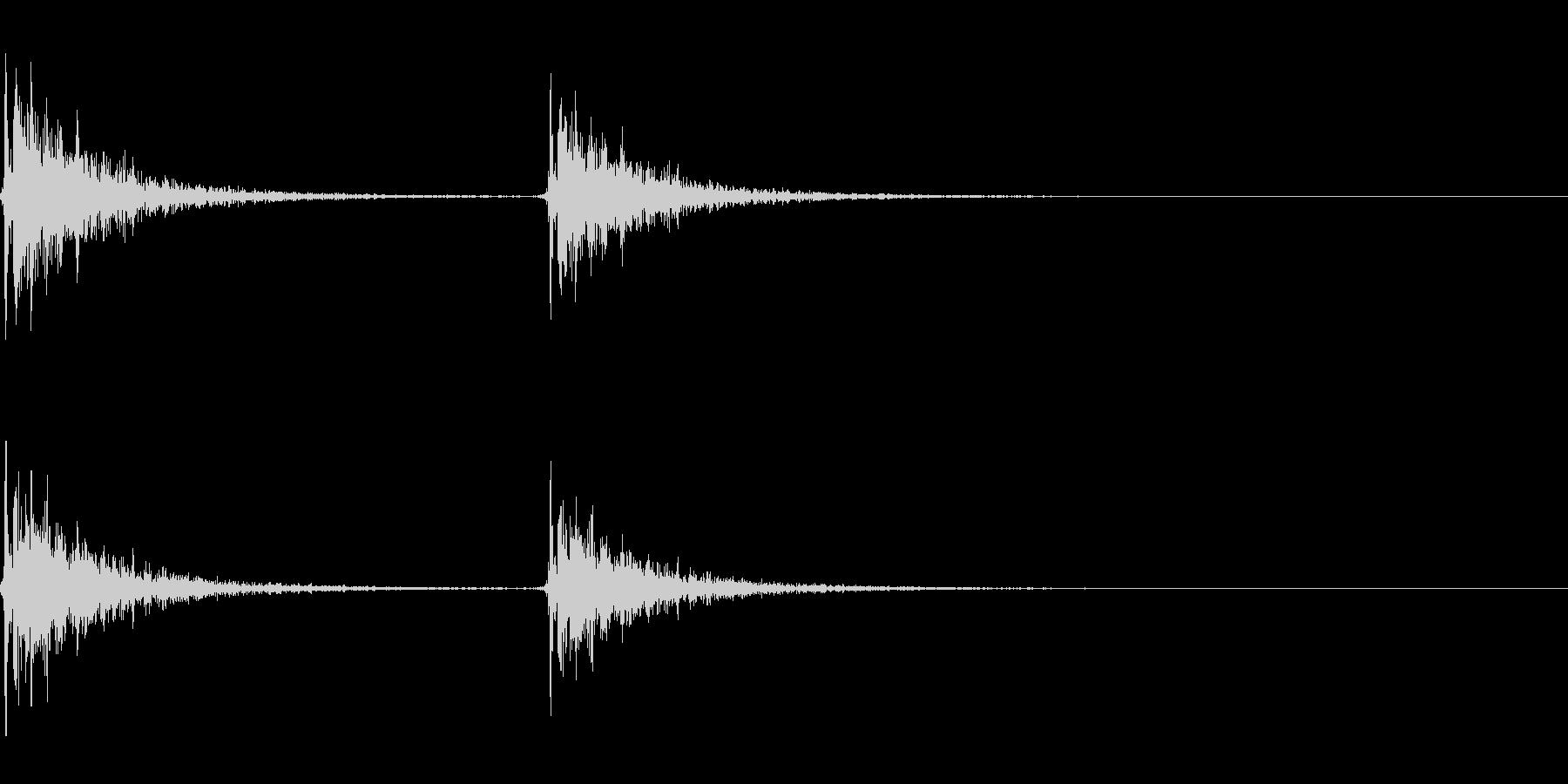 【SE 効果音】効果音その12の未再生の波形