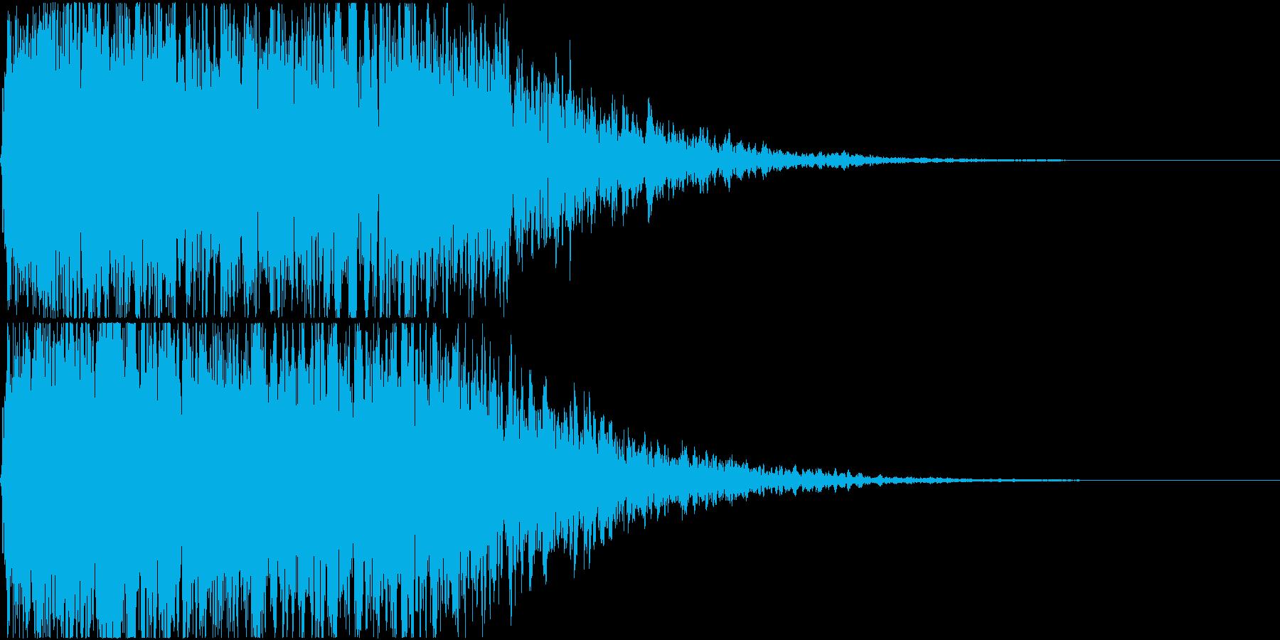 キュイン ギュイーン シャキーン 11の再生済みの波形