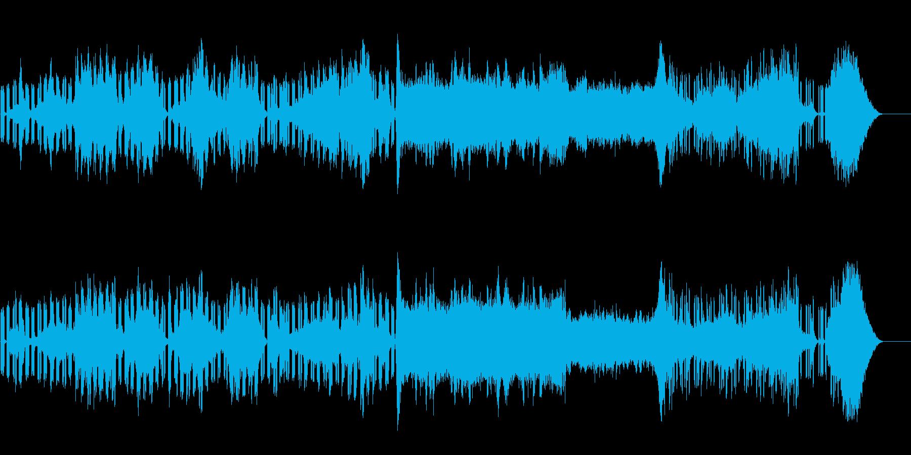 未知の空間を体感するサイエンス風BGMの再生済みの波形