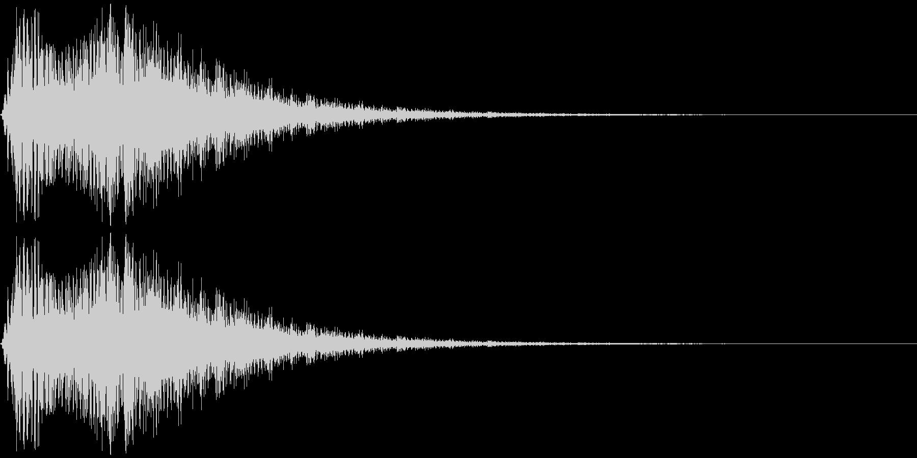 「光」「輝く」などをイメージした擬音で…の未再生の波形